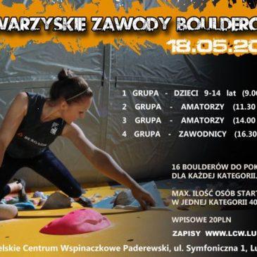 Towarzyskie Zawody Bulderowe – LCW Paderewski, 18 maja 2013