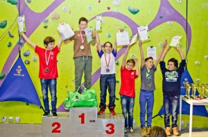 Podium młodzików na trudność , Fot. Szymon Aksienionek