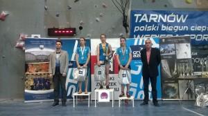 Podium juniorek młodszych, na 1 miejscu Natalia Woś, fot. G.Gajaszek