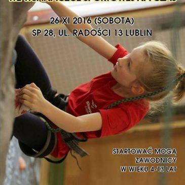 Mistrzostwa Lublina we wspinaczce sportowej na czas dzieci i młodzików – 26.11.2-16 – ZAPISY