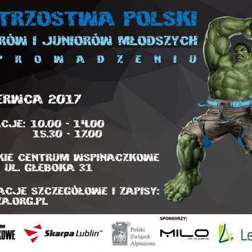 Mistrzostwa Polski Juniorów i Juniorów młodszych w konkurencji prowadzenie odbędą się w Lublinie!